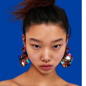 Zara colorful sequins  earrings